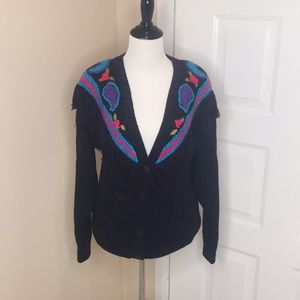 Vintage Crochet Button Up Sweater